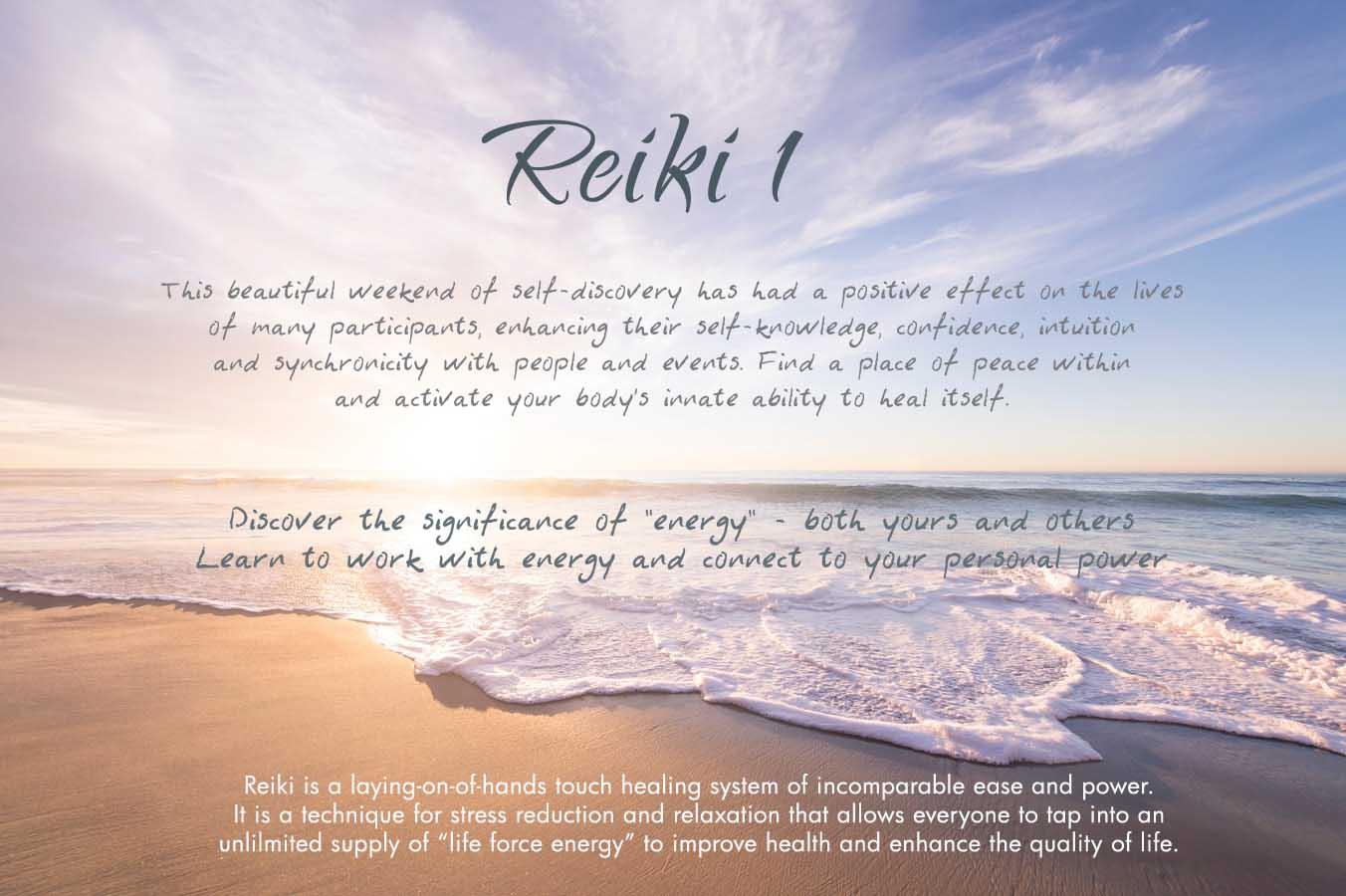 Reiki 1 Weekend Workshop